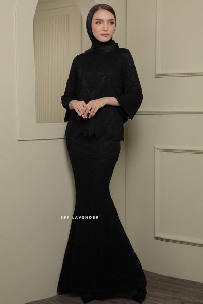 Lacey Blouse Kurung Black