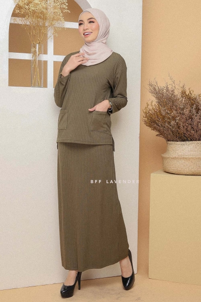 Set Ironless Comfortwear Army Green