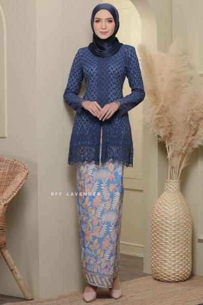Kebaya Lace Batik Navy Blue