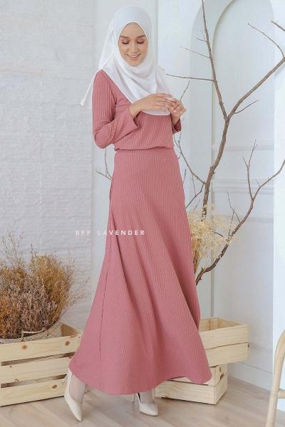 Flared Ironless Comfortwear Dusty Pink