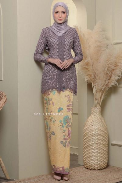 -PRE ORDER -Kebaya Lace Batik Dusty Purple